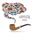 Hipster style concept vector