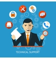 Technical support icon vector