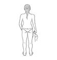 Sketch of the girl in swimsuit vector