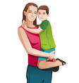 Happy mother with a child vector