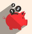 Money pig bank retro vector
