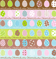 Cute easter wrapping paper seamless pattern vector