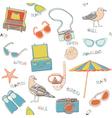 Scrapbook background sketches vector