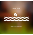 Stylized sailboat and waves vector