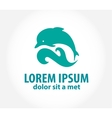 Dolphin icon design element vector
