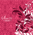 Red damask floral background vector