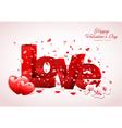 Love valentine background design vector