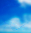 Blurred sky with waves vector