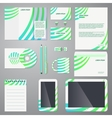Brand identity company style template vector