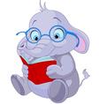 Cute elephant education vector
