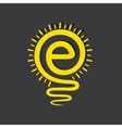 Email sign male a light-bulb vector