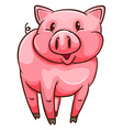 A simple sketch of a pig vector