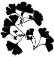 Gingko balboa silhouettes vector