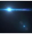 Star sun with lens flare vector