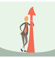 Businessman and arrow of success vector