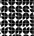Old mosaic seamless background black and white vector