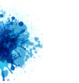 Abstract background with blue blob vector