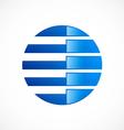 Globe round communication abstract logo vector