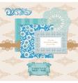 Scrapbook design elements - vintage flower card vector