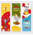 Funfair banners vector
