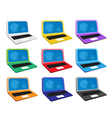 Set of computer notebook icons vector