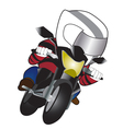 Biker red suit cartoon vector