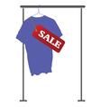 Blue shirt on sale vector