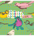 Bird collage background vector