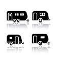 Set of transport icons - trailers vector