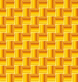 Orange abstract seamless pattern with squares vector