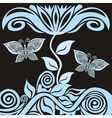 Floral nature pattern background with butterfly vector