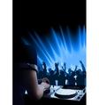 Dj dance party background vector
