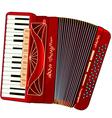 Beautiful accordion vector