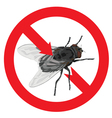 Flies banned sign prohibited vector