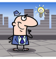 Businessman with idea cartoon vector
