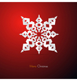 Red abstract merry christmas background vector