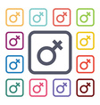 Female flat icons set vector