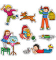 Kids and pets vector