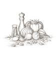Still life of spices vector