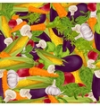 Vegetables realistic seamless background vector