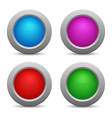 Set of colorful web buttons vector