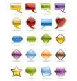 Collection of brightly colored glossy web element vector