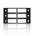Black binders horizontal isolated on white vector
