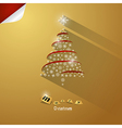 Gold abstract merry christmas background vector