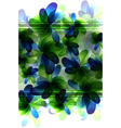 Green and blue transparent flowers vector