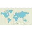 Background digital world map vector