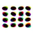 Multicolor abstract speech bubble eps 8 vector