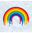 Rainbow arc painted on old paper vector
