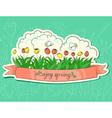 Spring sticker vector