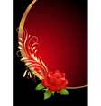 Red rose ornament vector